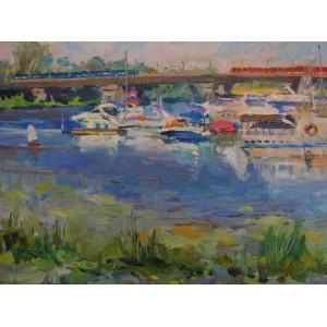 Яхти біля мосту