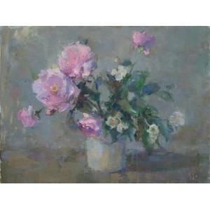 Весенние розы с жасмином