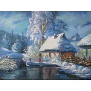 Зимний украинский пейзаж