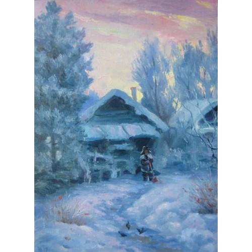 Зимнее утро в селе