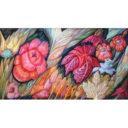 Квіти і листя осені