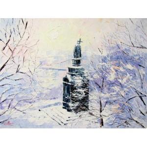 Зимнее утро в Киеве
