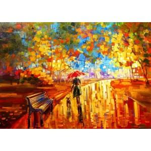 Осенняя прогулка под зонтом
