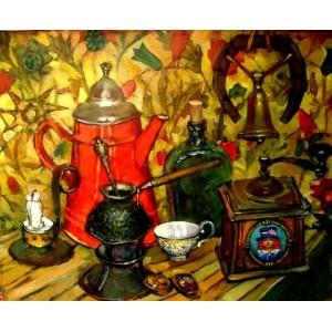 Натюрморт с красным чайником