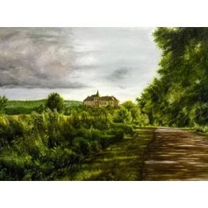 Дорога в замок Олесько