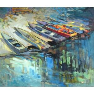 Разноцветные лодки