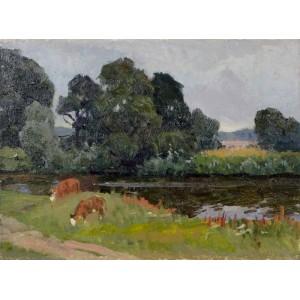 Пейзаж з коровами