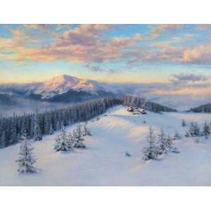 Вершины зимних Карпат Кукул и Петрос