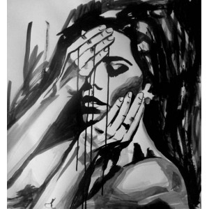 Girl with ink