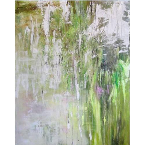 Зелено-біла абстракція
