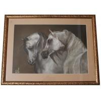 Портрет пары лошадей