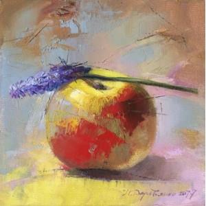 Яблоко и цветок