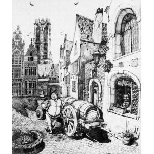 Фландрия, продавец пива