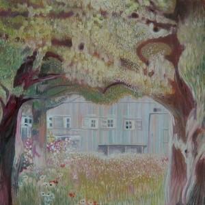 Дом в саду на озере Етерзе