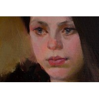 лицо девушки маслом, картина