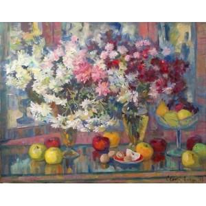 Хризантеми і яблука