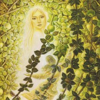 картина маслом, Apple girl, Яблочная девушка, Образ богини, Миколайчук Владимир