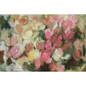 Блідо-рожеві тюльпани