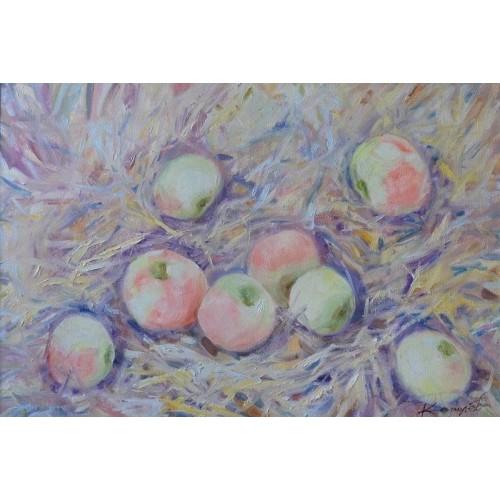 Яблоки на сене