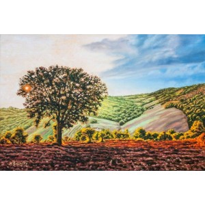 картина маслом, Италия, пейзаж, Молизе Осень