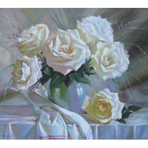 Белых роз букет