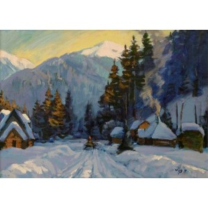 Нічний снігопад