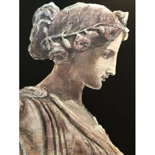 Venus in Chanel dress