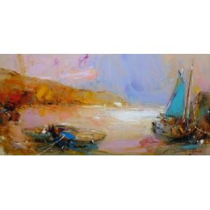 Пейзаж с лодками