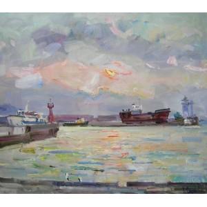 Восход в Ялтинском порту
