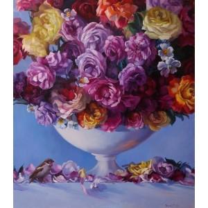 Розы и воробей