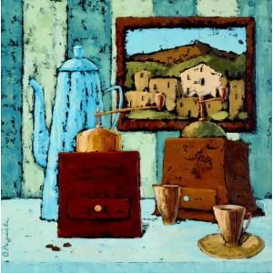 картина маслом, натюрморт, Приглашение на кофе, Радаева Елена