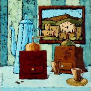 картина маслом, натюрморт, Запрошення на каву, Радаева Олена
