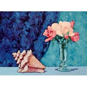 картина маслом, Натюрморт с раковиной, Радаева Елена
