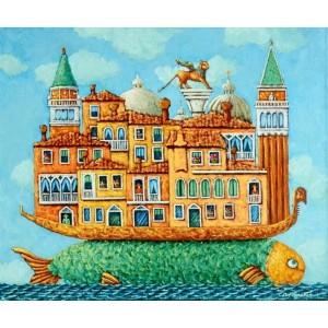 картина маслом, Волшебная Венеция, Радаева Елена