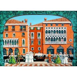 картина маслом, Карнавальная Венеция, Радаева Елена