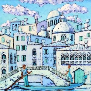 картина маслом, Мечты о Венеции, Радаева Елена