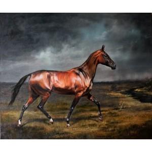 картина маслом, К источнику, Лычагина Юлия, лошадь