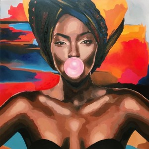 картина маслом, Tinashe (Тінаші), Артамонова Анастасія
