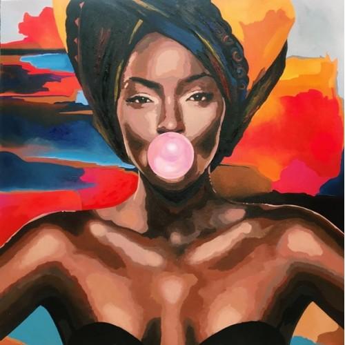 картина маслом, Tinashe (Тинаши), Артамонова Анастасия