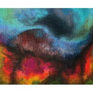 картина маслом, Abstract landscape (Абстрактний пейзаж), Артамонова Анастасія