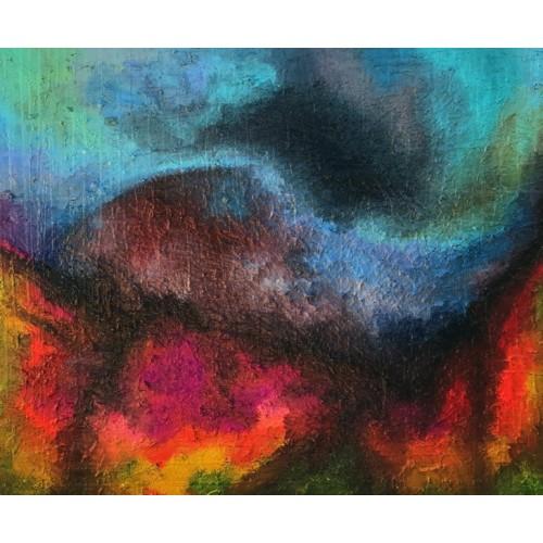 картина маслом, Abstract landscape (Абстрактный пейзаж), Артамонова Анастасия