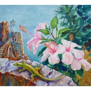 Аромат Сицилии картина маслом, цветы