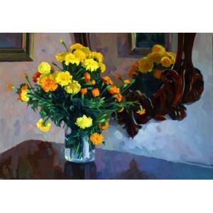 Цветы в доме художника