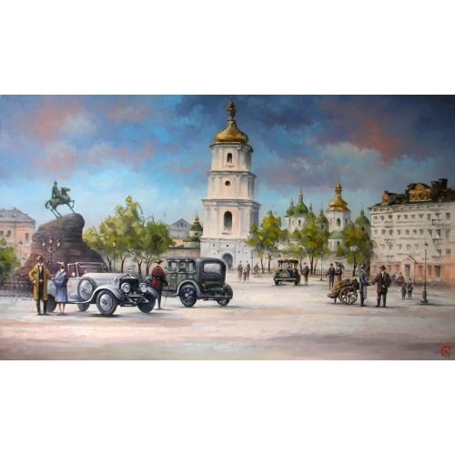 картина маслом, Софиевский собор. Киев, Кухарский Игорь