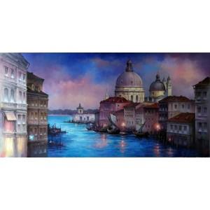 картина маслом, Венеция, Кухарский Игорь