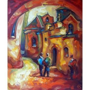 картина маслом, Вірменський дворик, Кухарський Ігор