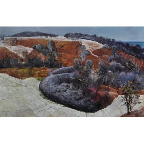 картина маслом, Зимние холмы, Кузнецова Полина