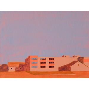 картина акрил, Помаранчеве будівлю, Некраха Ігор