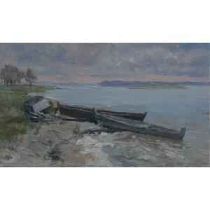 Озеро картина Масло, Озеро Світязь, Федоренко Євген