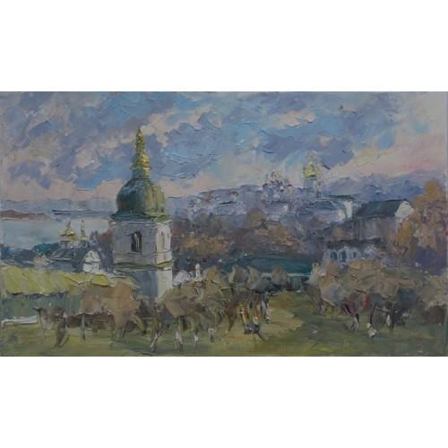 картина масло, Осень, Федоренко Евгений
